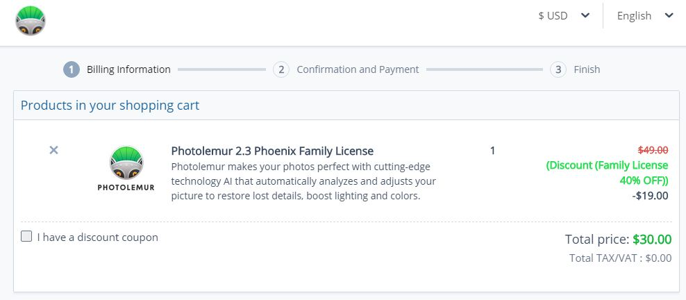Photolemur discount 40% OFF on Family License - Eventscoupons